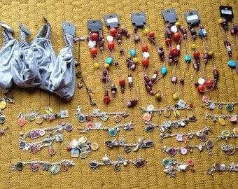 Craft supplies jewellery making bargain bundle bracelets necklaces retro
