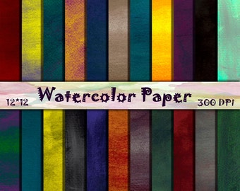 Watercolor scrapbooking paper Summer Watercolor Paper Organic Pattern Rainbow Wallpaper Watercolor Digital Paper Pack Organic ornament 12x12