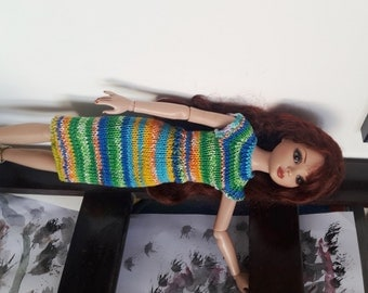 Ellowyne Wilde or BJD 40 cm: green dress