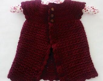 Crochet Baby Cardigan - 9/12 months