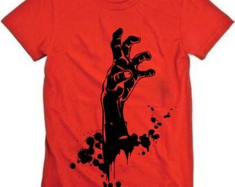 Zombie Reach on Red American Apparel Tshirt