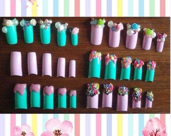 Decora Kei 3D Acrylic Nails
