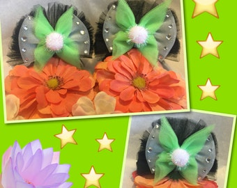 Minnie Mouse Ear Hair Clips (Pirates, UP, Tinkerbell)