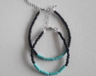 turquoise, bracelet, mens bracelet, womens bracelet, simple bracelet, boho bracelet, hippie bracelet, beaded jewelry, hippie jewelry, beads