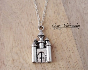 Magic Castle Necklace - Castle Pendant - Princess Jewelry - Antique Silver Jewelry