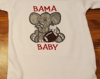 Alabama Baby Bodysuit- Boy Bama Baby