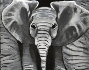 Momma and Baby Elephant 8x10 print