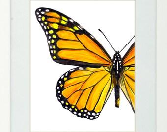 Monarch Butterfly Watercolor Fine Art Print