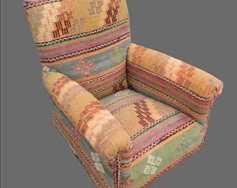 Kilim Covered Antique Armchair