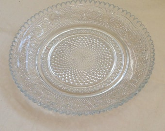 Beautiful Cut Glass Plate. Perfect Condition and Intricately Cut Detail.