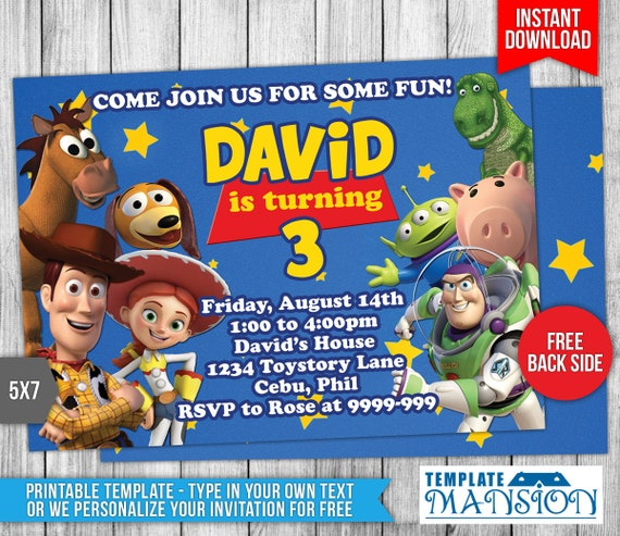 Toy story invitation toy story birthday by templatemansion for Toy story invites templates free