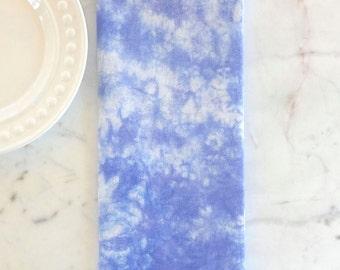 Purple Tea Towel - Lilac Kitchen Towel - Hand-Dyed Flour Sack Towel - Tie Dye Tea Towel