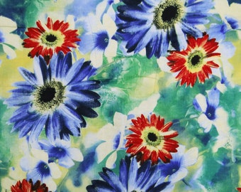 """Multicolor Indian Decorative Cotton Fabric Width 41"""" Sewing Drape Dress Making Material With Floral Print Sew Cotton Faric By 1 Yard ZBC2696"""