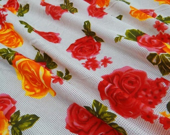 Floral Fabric For Sewing Decorative Fabric For Quilting Craft Supplies Fabric Dressmaking Material Modern Fabric By The yard ZBC5629