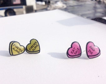 Cheeky Conversation Heart Earrings