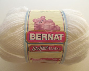Bernat Softee Baby yarn - Color: White # 02000