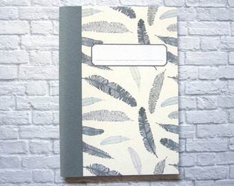 """Feathers"" ruled notebook DinA6"