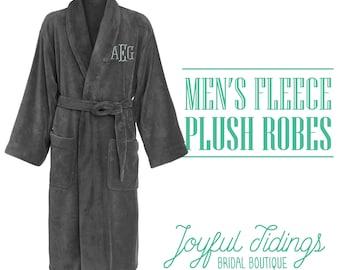 Groomsmen Robes, Fleece Robe, Groomsmen's Gifts, Wedding Gifts, Couple's Gifts, Gifts for Dad, Groomsmen's Wedding Party, Wedding Party Gift