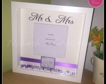 Personalised wedding photo frame - Mr Mrs / Mr Mr / Mrs Mrs