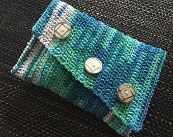Crochet purse, wallet, pouch, accessory bag