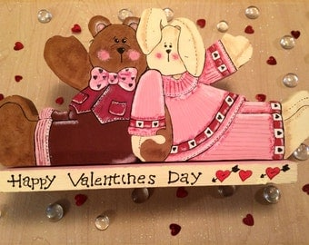 Valentines Day Decorations - Bunny and Bear Valentines Day - Valentines Day Decor