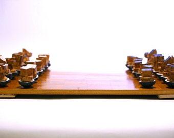 Chess pieces culbutos.