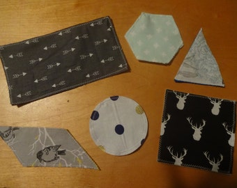 SAlE- Labeled FABRIC SHAPES Game CARDS for Toddlers and Babies by HuggableEarth