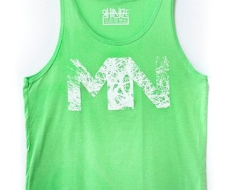 MN Branches Tank Top / Lime Green Tank / Minnesota Clothing / Minnesota / Tree Branches / Graphic Tees / Art Wear / Midwest
