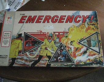 1973 MB Emergency TV Show Board Game Small Box Version
