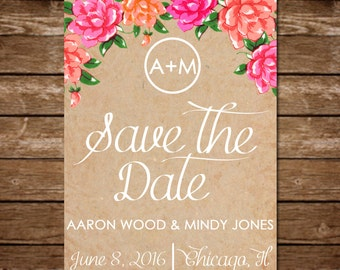 Rustic Vintage Wedding Save the Date