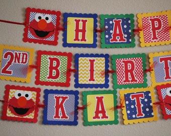 Elmo Banner -Elmo Birthday Banner- Elmo Party