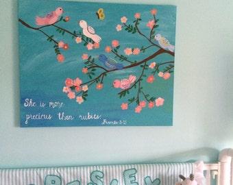 Custom Nursery Painting, nursery art