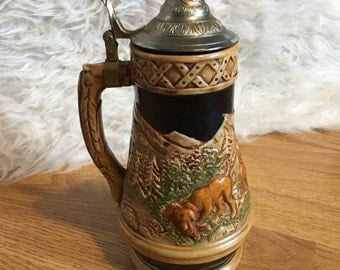 Large Musical Decorative Tankard Stein