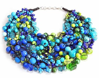 kama4you 2230 crochet bib necklace