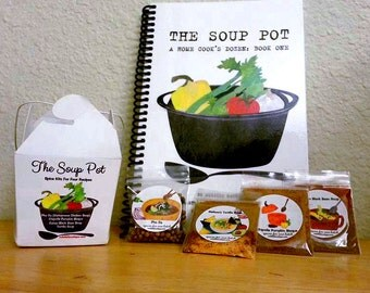 """Take-Out Gift Set """"The Soup Pot"""" Book and Complete Set of Spice Kits"""