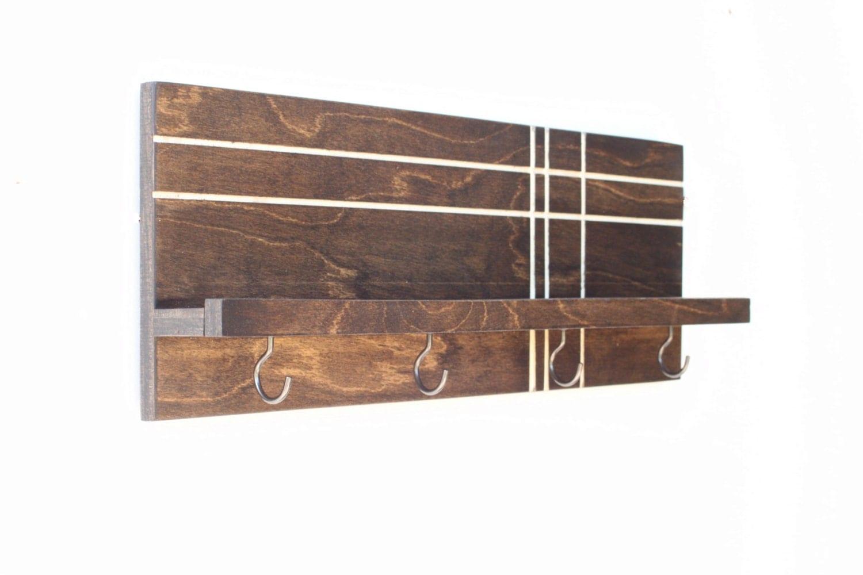 modern wood shelf wooden shelf key holder for wall key. Black Bedroom Furniture Sets. Home Design Ideas