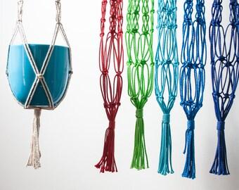 Macrame plant hanger, 100 cm - pick your colour!