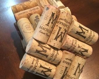 Wine cork coasters, set of four