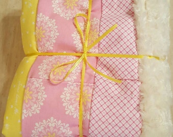 Soft, Minky, perfect for cuddle/tummy time, baby shower gifts