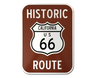 "Reflective Route 66 Sign 9""x12"""