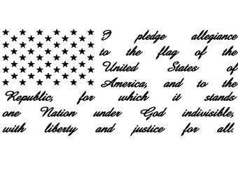 Flag and Pledge Vinyl Decal
