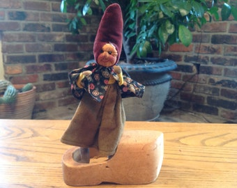Antique Gnome Witch Doll