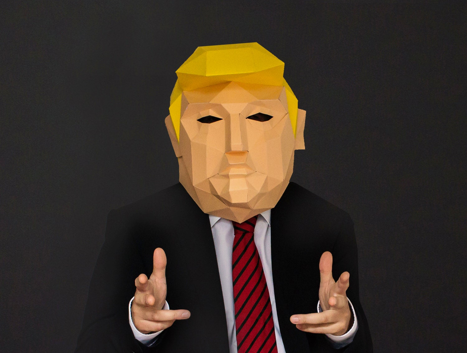 This is a photo of Simplicity Donald Trump Mask Printable