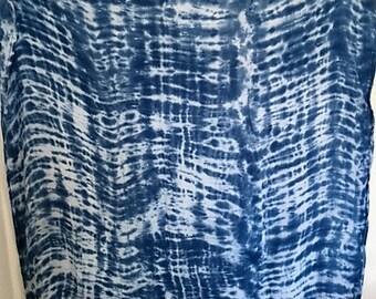 Indigo Shibori Tie Dye Swaddle Baby Blanket