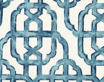 Round Tablecloth Imperial Seaside Blue Lattice
