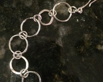 Sterling 15mm round links with some forged rings