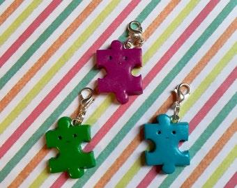 Kawaii Polymer Clay Jigsaw Charm