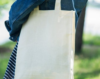 Natural 100% Cotton Tote Bag Blank with extension
