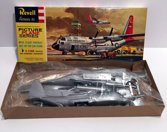 Vintage (1960) **RARE** C-130A HERCULES Tactical Air Command Transport Revell Model Kit (MIB Factory Sealed)
