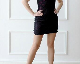 Black dress, lace dress, mini dress, elegant dress, evening dress, Prom Gown, dress,